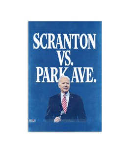 Biden Harris: Scranton Vs. Park Ave Solid Blue Poster
