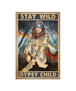 """STAY WILD GYPSY CHILD Vertical Poster Wall Poster Vertical 7x11"""" 16x24"""" 24x36"""""""