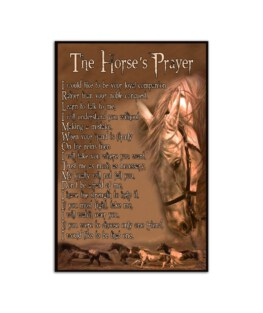 "The horses prayer Wall Poster Vertical 7x11"" 16x24"" 24x36"""