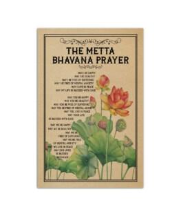 """The metta bhavana prayer Wall Poster Vertical 7x11"""" 16x24"""" 24x36"""""""
