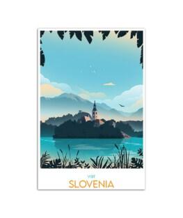 "Visit Slovenia Wall Poster Vertical 7x11"" 16x24"" 24x36"""