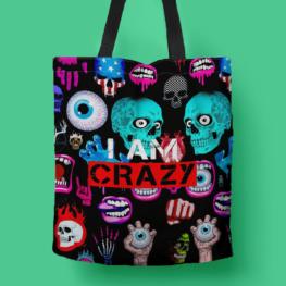 I Am Crazy tote bag