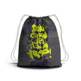 Don't grow up it's a trap DRAWSTRING BACKPACK
