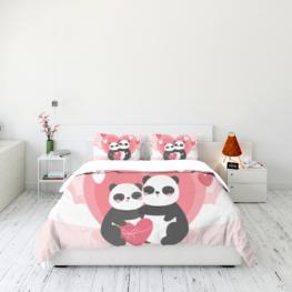 Panda sweet love couple
