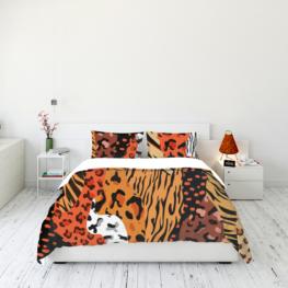 Animal fur print bedding set 11