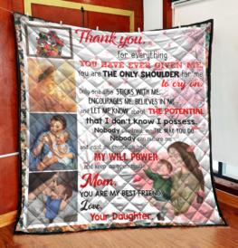 Thank you my dear mom quilt - VU01058