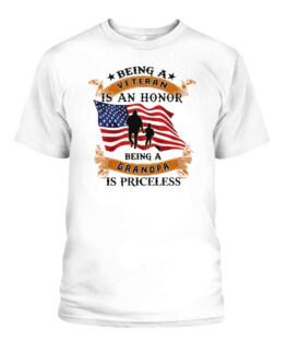 Veteran grandpa shirt being a veteran is an honor being a grandpa is priceless custom personalized gift for grandpa granddad Papa Tutu Gigi
