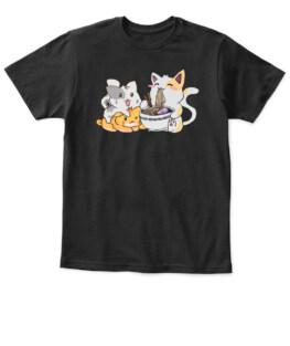 Kawaii Neko Ramen Anime Cat Noodles T-Shirt
