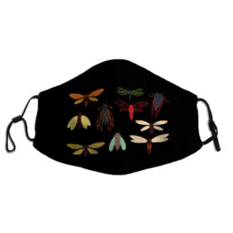 Collection of 10 Colorful Cicadas and Moths Adult Face Mask