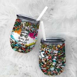 Personalized Nurselife Wine Tumbler, Wine Stainless Steel Tumbler,insulated Tumbler With Lids, Wine Tumbler Gift For Nurse, Travel Wine Tumblers