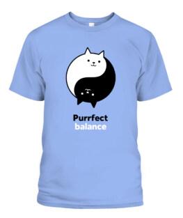 Purrfect Balance Cat T Shirt, Cat Lovers Gift, Funny Cat Shirt, Gift For Cat Lovers