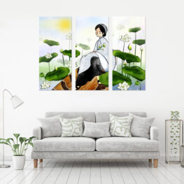 """""""LOTUS LADY"""" CANVAS 3 PIECE 