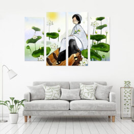"""""""LOTUS LADY"""" CANVAS 4 PIECE 