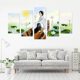 """""""LOTUS LADY"""" CANVAS 5 PIECE 