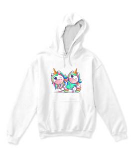 A happy friendship unicorn- happy, cute, unicorn, friendship, love, rainbow, friends, birthday, girls, colorful, animals, animal, funny, pink, baby,
