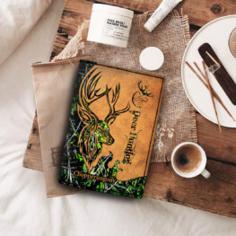 Oder 7245 Spread Store Old Deer Passport Hunting All Over Printed Custom Name