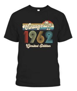 Vintage 1962 59th Birthday Original Parts 59 Years Old Retro Theme T-Shirts, Hoodie, Sweatshirt, Adult Size S-5XL