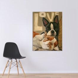 Two Dog Canvas Cotton 1 Piece - Portrait Full Size