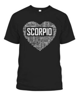 Scorpio Zodiac Traits Horoscope Astrology Sign Gift Heart T-Shirts, Hoodie, Sweatshirt, Adult Size S-5XL
