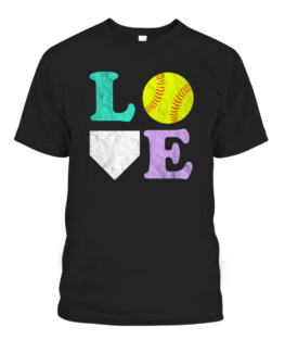 Womens or Girls I Love Softball T-Shirts, Hoodie, Sweatshirt, Adult Size S-5XL