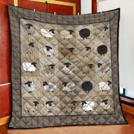 Sheep Customine Full Size Quilt King Queen Twin Throw