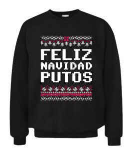 Feliz Navidad Mexican Ugly Christmas Sweater Funny Graphic Tee Shirt Adult Size S-5XL