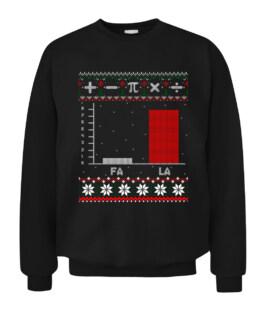 Fa La Mathematics Graph Christmas Ugly Sweater Graphic Tee Shirt Adult Size S-5XL