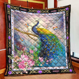 Peacock  Beautiful Peacock Full Size Quilt King Queen Twin Throw