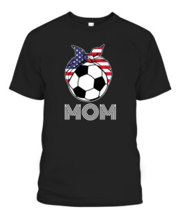 US Girls Soccer Mom Apparel - Gear for Women Soccer Players Graphic Tee Shirt, Adult Size S-5XL