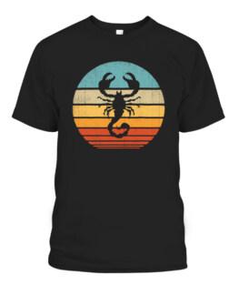 Scorpion Retro Vintage 60s 70s Scorpio Zodiac Gifts Insect T-Shirts, Hoodie, Sweatshirt, Adult Size S-5XL