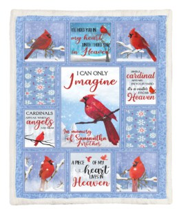Small Red Bird 60x80 Inch Adult Blanket