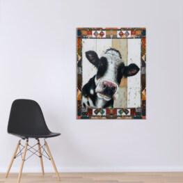 White And Black Canvas Cotton 1 Piece - Portrait Full Size