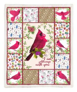 Pink Bird 60x80 Inch Adult Blanket