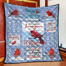 Small Red Bird Full Size Quilt King Queen Twin Throw