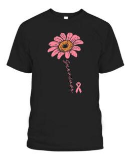 Sunflower Pink Ribbon Breast Cancer Survivor Awareness T-Shirts, Hoodie, Sweatshirt, Adult Size S-5XL