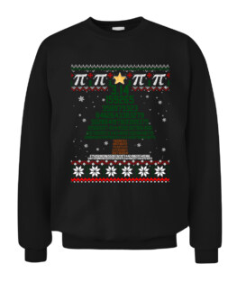 Funny Pi Tree Christmas Math Teacher Ugly Sweater Graphic Tee Shirt Adult Size S-5XL
