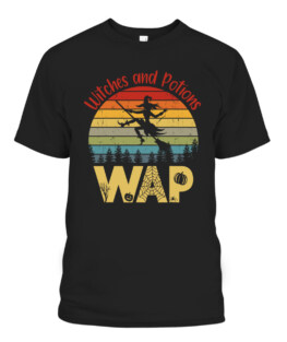 WAP Witches And Potions Retro Sunset Vintage Witch T-Shirts, Hoodie, Sweatshirt, Adult Size S-5XL