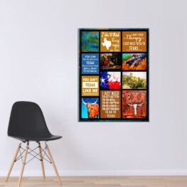 Texas I Dont Need Therapy Canvas Cotton 1 Piece - Portrait Full Size