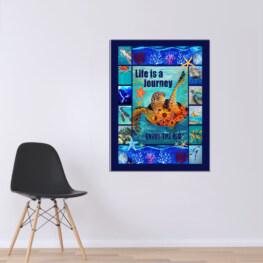 Sea Turtle Life Canvas Cotton 1 Piece - Portrait Full Size