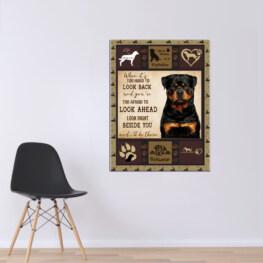 Rottweiler Black Canvas Cotton 1 Piece - Portrait Full Size