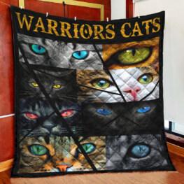 Warriors Cats Eye Cats Full Size Quilt King Queen Twin Throw