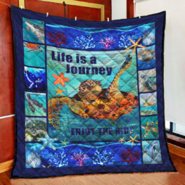 Sea Turtle Life Full Size Quilt King Queen Twin Throw