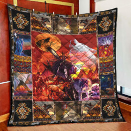 Red Horse Full Size Quilt King Queen Twin Throw
