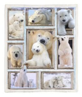 White Bear 60x80 Inch Adult Blanket