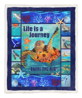 Sea Turtle Life 60x80 Inch Adult Blanket