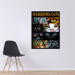 Warriors Cats Eye Cats Canvas Cotton 1 Piece - Portrait Full Size