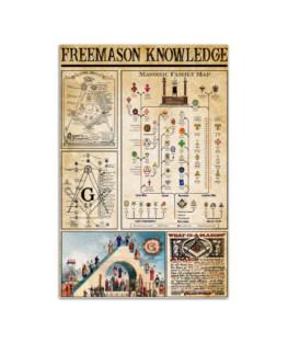 "Freemason Knowledge Wall Poster Vertical 7x11"" 16x24"" 24x36"""