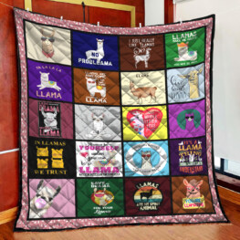 Probllama Full Size Quilt King Queen Twin Throw