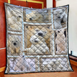 White Bear Full Size Quilt King Queen Twin Throw