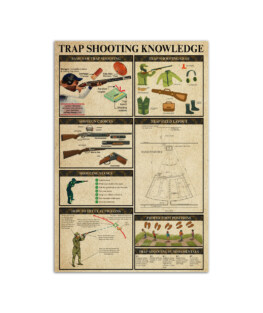 """Trap Shooting Knowledge Wall Poster Vertical 7x11"""" 16x24"""" 24x36"""""""